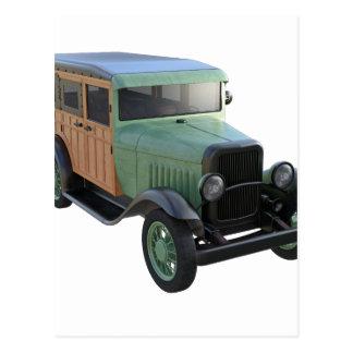 Woodyのクラシックな緑のトラック ポストカード
