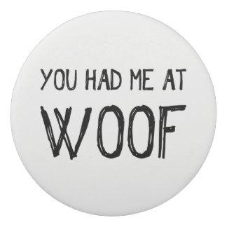 Woofの消す物で私がありました 消しゴム