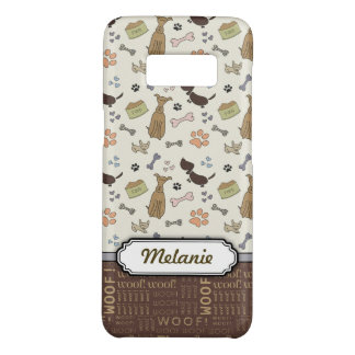 WOOF! 犬の恋人- personalizable子犬パターン Case-Mate Samsung Galaxy S8ケース