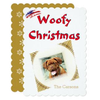 Woofyのクリスマスの愛国心が強いアメリカ人米国の旗 カード