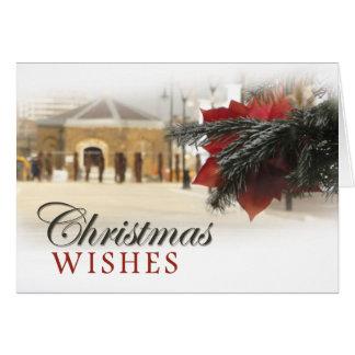 Woolwichの川岸のクリスマス グリーティングカード