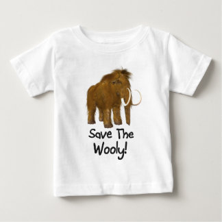 """Wooly"" Woolyマンモスを救って下さい ベビーTシャツ"