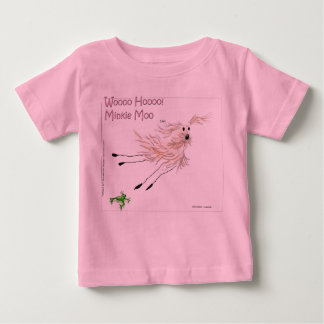 Woooo Hooooのminkie Moo ベビーTシャツ