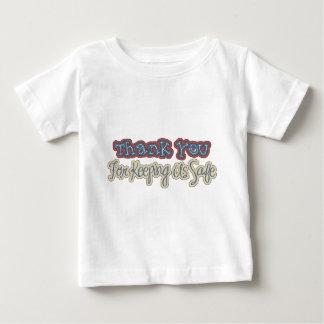 wordartありがとう ベビーTシャツ