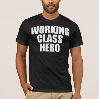 WORKING CLASS HERO -white logo- Tシャツ