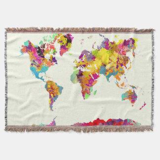world map colors スローブランケット
