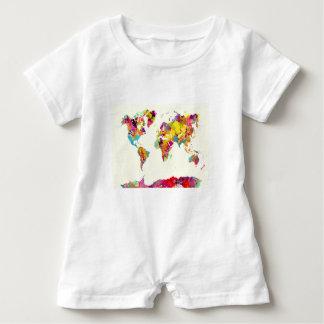 world map colors ベビーロンパース