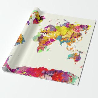 world map colors ラッピングペーパー