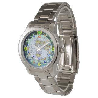 World Time Zones Cities Travel Wrist Watch 腕時計