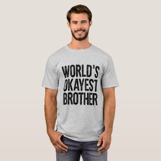 Worlds Okayest Brother Definition Funny Shirt Tシャツ