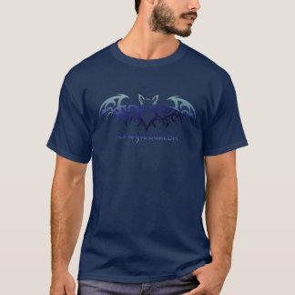 Worleyの洞窟こうもりのワイシャツ-青 Tシャツ