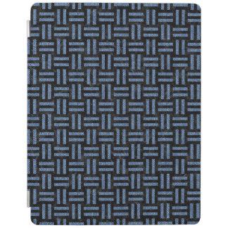 WOVEN1黒い大理石及び青いデニム iPadスマートカバー