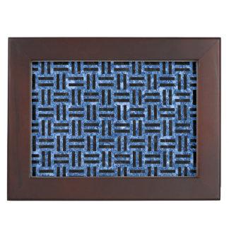 WOVEN1黒い大理石及び青い大理石(R) ジュエリーボックス