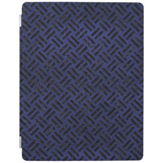 WOVEN2黒い大理石及び青い革(R) iPadスマートカバー