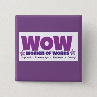 WOWの正方形ボタン 5.1CM 正方形バッジ