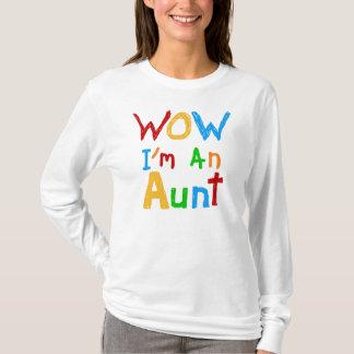 WOW私は叔母さんTシャツおよびギフトです Tシャツ