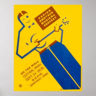 WPAのコンテストポスター ポスター