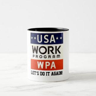 WPAはProgrerss Adminを働かせます。 それをまたやろう! ツートーンマグカップ