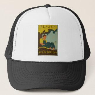 WPA -公園をきれい保って下さい キャップ