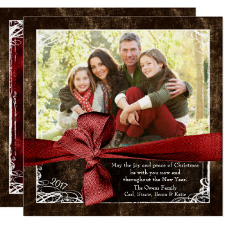 Wrapped in Love Photo Christmas Cards カード