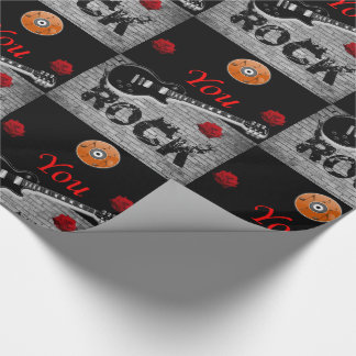 Wrapping paper Rock Music ラッピングペーパー