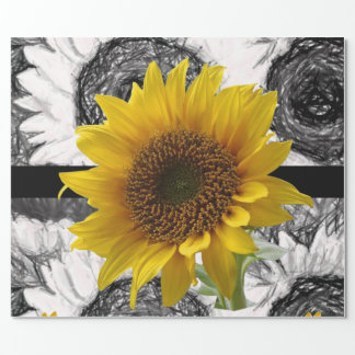 Wrapping paper Sunflower ラッピングペーパー