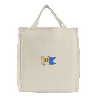 WRCC: トートバック(刺繍された、大きいロゴ) 刺繍入りトートバッグ