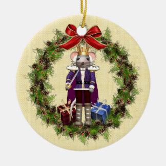 Wreath Round Christmas Ornamentマウス王 セラミックオーナメント