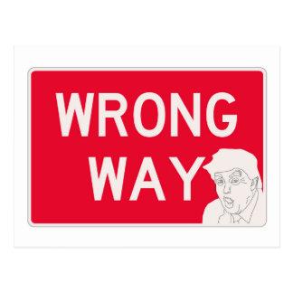 wrongway-trump2 ポストカード