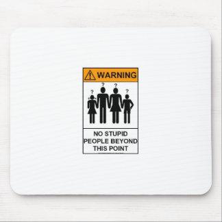 WStupidの人々の警告 マウスパッド