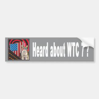 """WTC 7""バンパーステッカー バンパーステッカー"