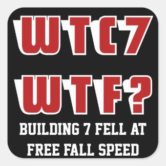 WTC 7 WTFか。 黒 スクエアシール