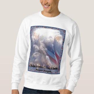 wtc_angels、2001Neverは9月11日、忘れます スウェットシャツ