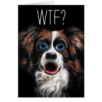 WTFか。 おもしろいなボーダーコリー犬との遅れて誕生日 カード