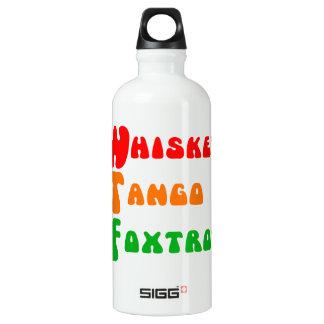 WTFのウィスキーのタンゴはおもしろいな引用文フォックストロットを踊ります ウォーターボトル