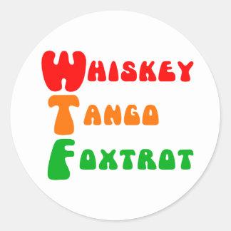 WTFのウィスキーのタンゴはおもしろい略称のフォックストロットを踊ります ラウンドシール