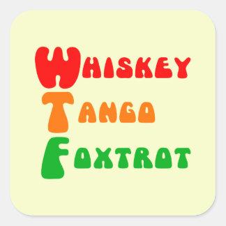 WTFのウィスキーのタンゴは文字を入れることおもしろいのフォックストロットを踊ります スクエアシール
