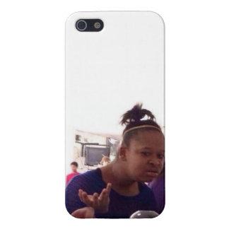 wtfの女の子5/5sの例 iPhone 5 ケース