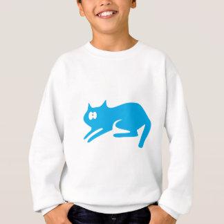Wtfの青い目を急襲すること準備ができた猫 スウェットシャツ