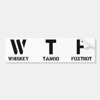 WTF バンパーステッカー