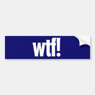 wtf! 濃紺のバンパーステッカー バンパーステッカー