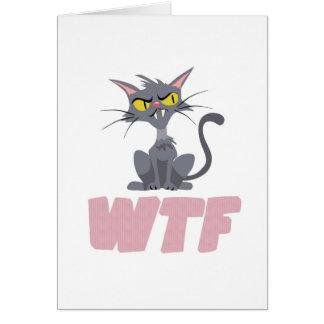 WTF CATのピンク カード