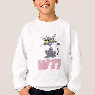 WTF CATのピンク スウェットシャツ