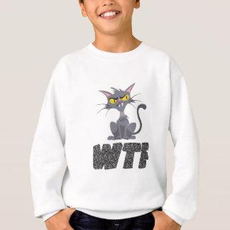 WTF CATの黒 スウェットシャツ