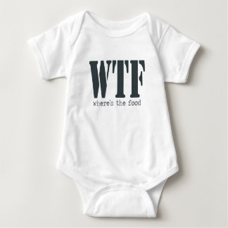 WTF Wheres食糧おもしろいな赤ん坊のワイシャツ ベビーボディスーツ