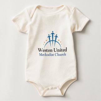 WUMCのロゴ ベビーボディスーツ