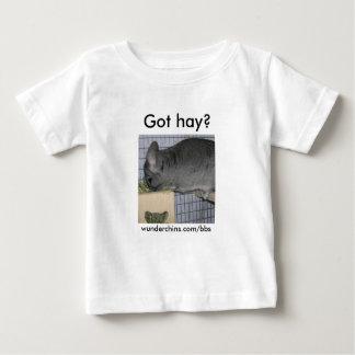 Wunderchinsは干し草のベビーのTシャツを得ました ベビーTシャツ