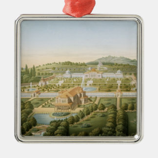 Wurtの王のギヨーム別荘の空中写真 メタルオーナメント