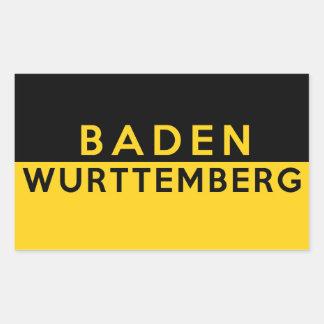 wurttembergの地域の旗ドイツ国名をbaden 長方形シール