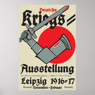 WW1ライプチヒのドイツポスター戦争展覧会 ポスター